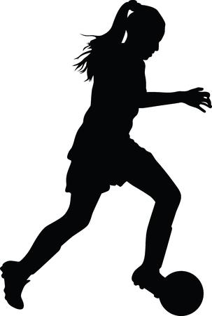 Ilustración de woman soccer player - Imagen libre de derechos