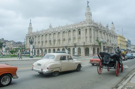 Havana Cuba - 26 January 2018: Gran Teatro de La Habana- Great Theater of Havana