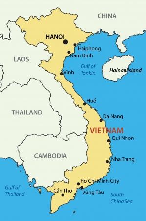 Socialist Republic of Vietnam - vector map