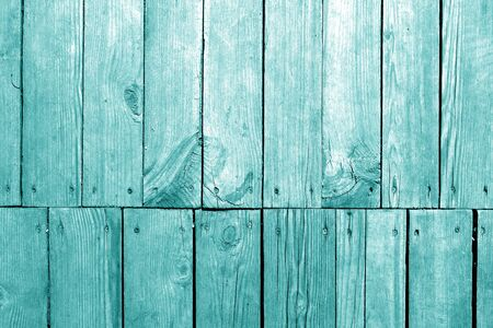 Photo pour Old grungy wooden planks background in cyan tone. Abstract background and texture for design. - image libre de droit