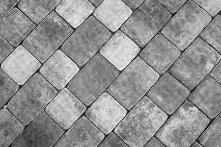 Photo for Stone pavement texture in black and white. Abstract background and texture for design.    - Royalty Free Image