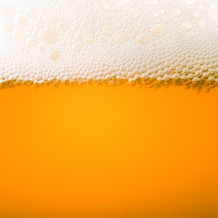 Macro bubbles of beer froth