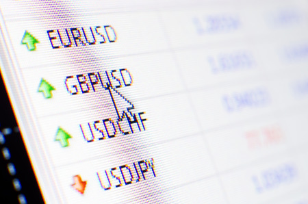 Currency exchange rate for forex market