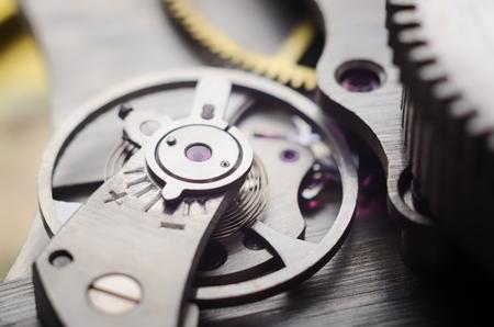 Photo pour Old watch mechanism very close up - image libre de droit