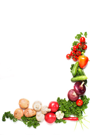 Photo pour vegetables isolated on a white  - image libre de droit
