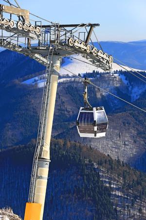 Skilift on winter resort Donovaly in Slovakia