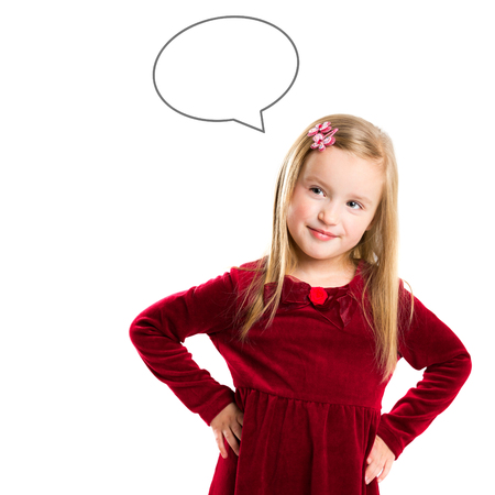 Photo for Portrait of a beautiful little girl. Children's dreams - Royalty Free Image