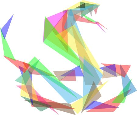 Illustration pour vector - snake colored glass triangle - isolated on background - image libre de droit