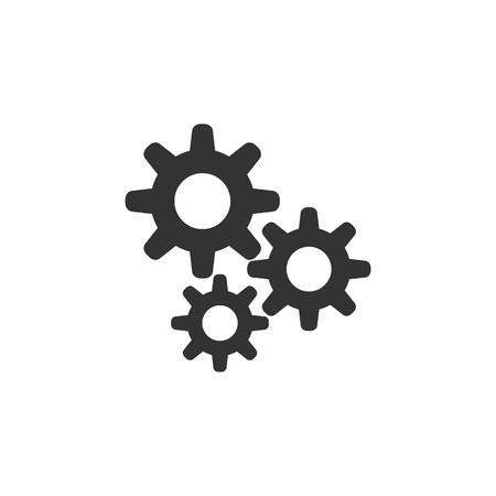 Illustration pour Setting icon. Flat style design Vector - image libre de droit