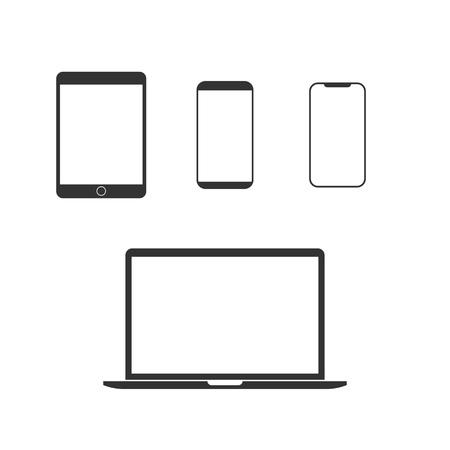 Illustration pour Vector illustration, flat design. Electronic devices icon set - image libre de droit