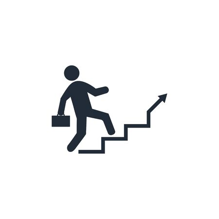 Vector illustration, flat design. Stairs Career ladder icon