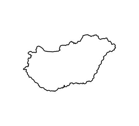 Illustration pour Hungary map on white background. Vector - image libre de droit