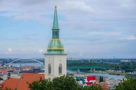 Foto für Bratislava, Slovakia - July 24, 2018: Panorama of the city of Bratislava - Lizenzfreies Bild