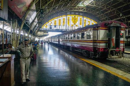 Photo for Bangkok, Thailand - December 19, 2018: Inside the main railway station in Bangkok - Royalty Free Image