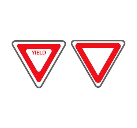Tiangular traffic signs