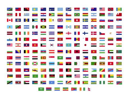 Foto de All world flags on white background - Imagen libre de derechos