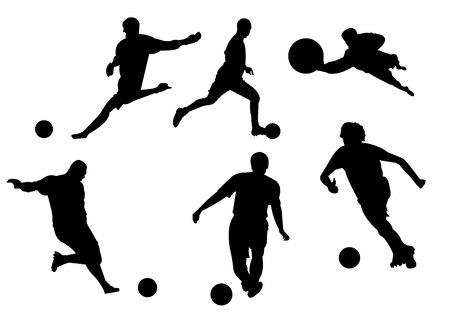 Photo pour Soccer football silhouette on white background - image libre de droit