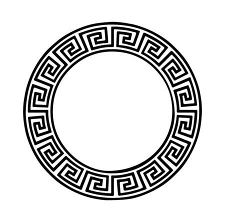 Illustration pour Greek ornamental pattern on white - image libre de droit