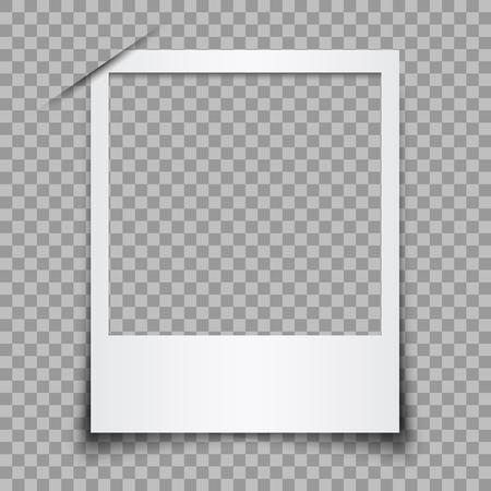 Illustration pour Empty white photo frame - stock vector - image libre de droit