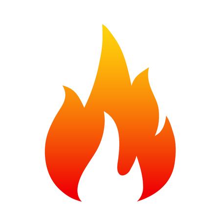 Illustration pour Flame, Four tongue fire Icon illustration logo - image libre de droit