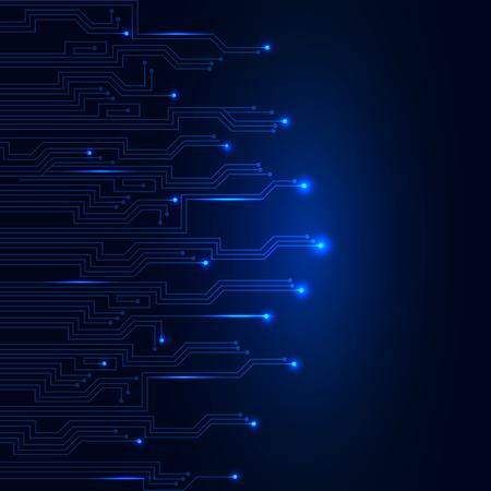 Illustration pour Geometric technology background with blue line - stock vector - image libre de droit