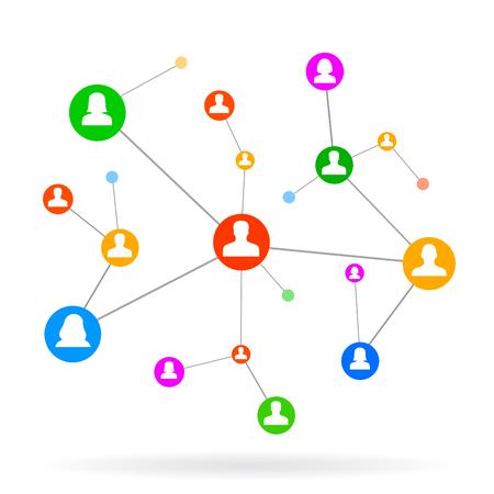 Illustration pour Social Network - vector for stock - image libre de droit