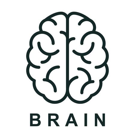 Illustration pour Human brain icon with neural bonds - stock vector - image libre de droit