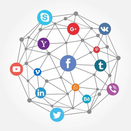 Illustration pour Social Network - stock vector - image libre de droit