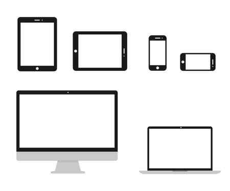 Illustration pour Set technology devices icon - stock vector - image libre de droit