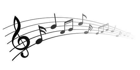Illustration pour Music notes, group musical notes - vector - image libre de droit