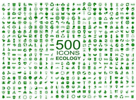 Illustration pour Set of 500 ecology icons - vector - image libre de droit