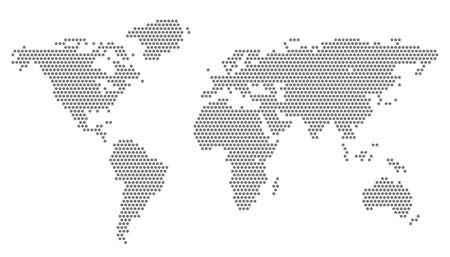 Illustration pour World Map with pixels - vector illustration - image libre de droit
