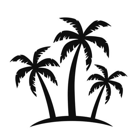 Illustration pour Palm tree silhouettes - vector for stock - image libre de droit