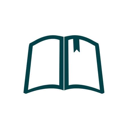 Illustration pour Book silhouette sign icon - for stock vector - image libre de droit
