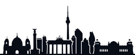 Berlin city silhouette - for stock