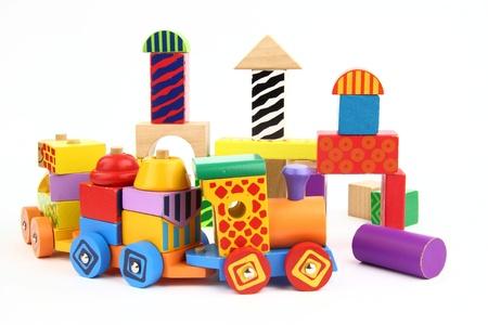 Foto de Wooden building blocks - Imagen libre de derechos