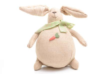Plush easter rabbit isolated on white