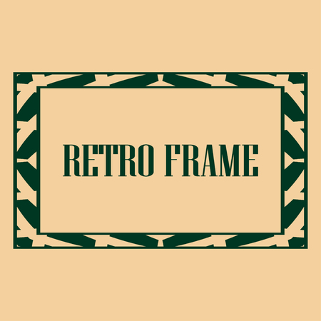art deco vintage border frame vector design template illustrationのイラスト素材