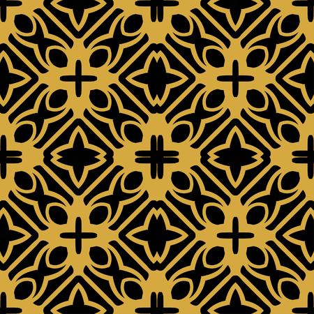 Illustration pour Abstract seamless retro art deco vintage ornamental background - image libre de droit