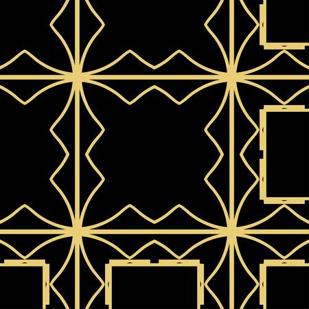 Illustration pour Vector modern geometric tiles pattern. Abstract geometric art deco seamless luxury background - image libre de droit