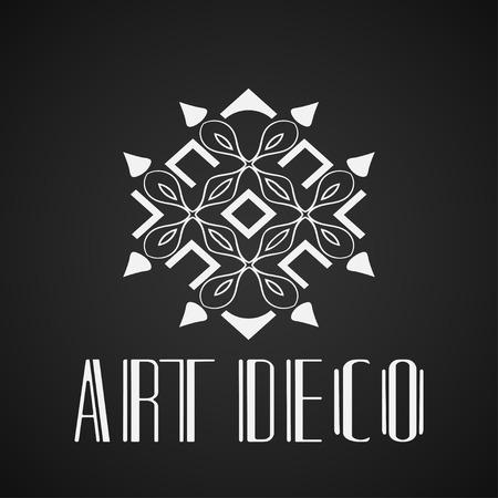 Illustration pour Beautiful emblem, badge for template logo in modern art deco style - image libre de droit