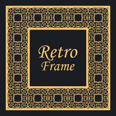 Illustration for Decorative vintage modern art deco frame and border. Vector illustration - Royalty Free Image