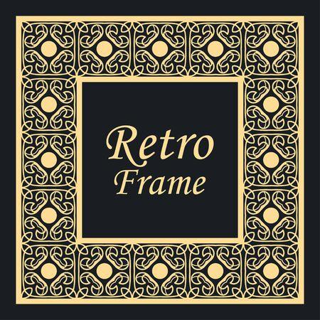 Illustration pour Decorative vintage modern art deco frame and border. Vector illustration - image libre de droit