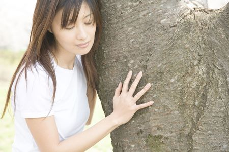 Tree and woman