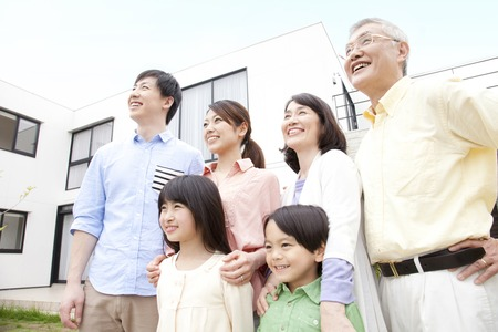 Of large families smileの写真素材