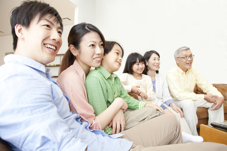 families watch TV