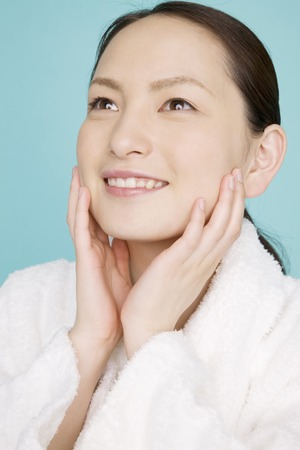 Women use beauty careの写真素材
