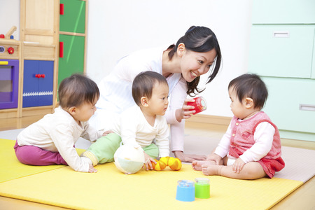 Play with toys nursery and kindergarten