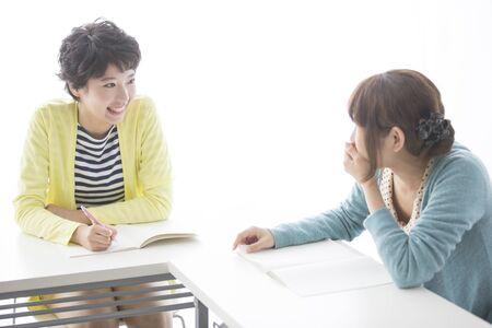 Two women take classes