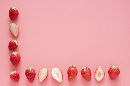 Lined strawberry